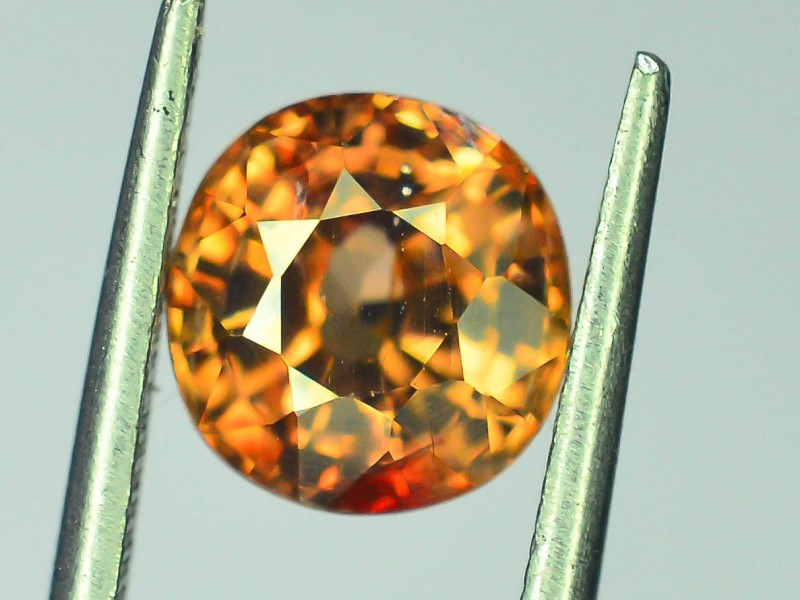 Certified 2.395 ct Imperial Zircon Untreated Cambodia