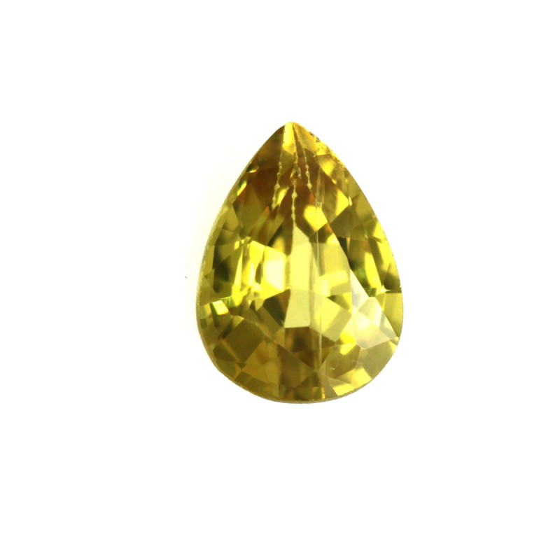 0.36cts Natural Australian Yellow Sapphire Pear Shape