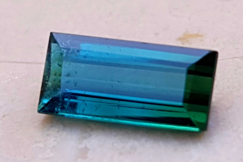 1.55 Cts Tourmaline Slightly Included Blueish Green Gemstone