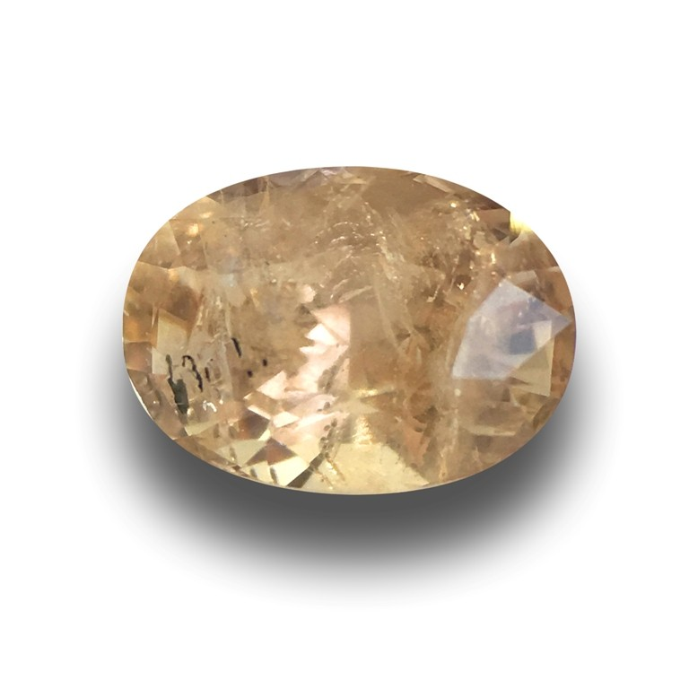 Natural Unheated Pinkish Yellow Sapphire|Loose Gemstone| Sri Lanka