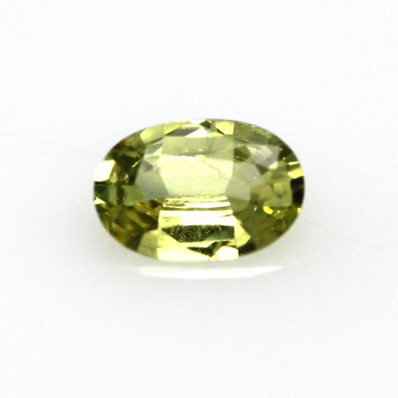 0.58cts Natural Australian Yellow Sapphire Oval Shape