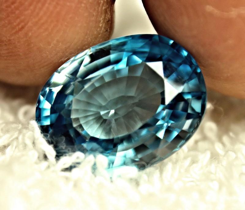 CERTIFIED - 14.88 Carat London Blue VVS Zircon - Gorgeous
