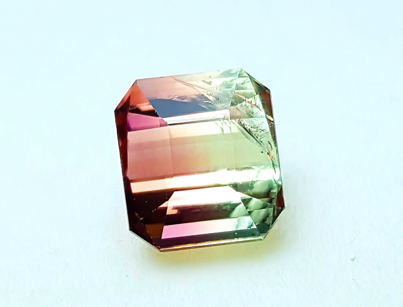 5.20 Cts Tourmaline Bi Color Beautiful Luster Gemstone~~~~ Mozambique