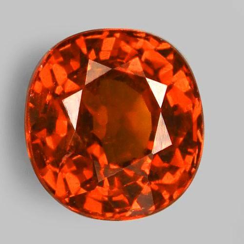 1.60ct Spessartite Garnet Beautiful Deep Orange