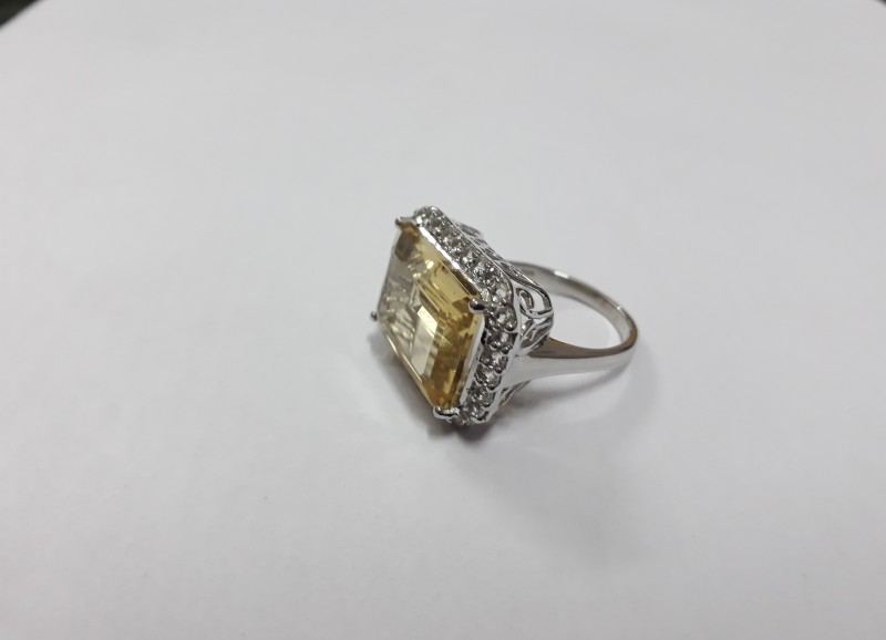 Citrine 925 Sterling silver ring #599