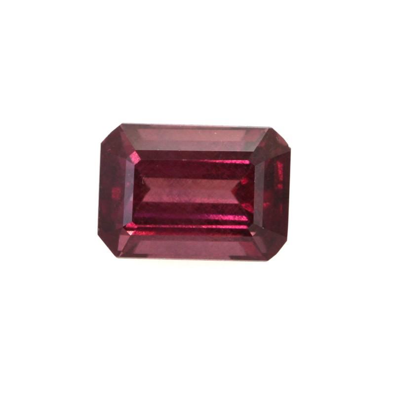 1.51cts Natural Rhodolite Garnet Emerald Cut