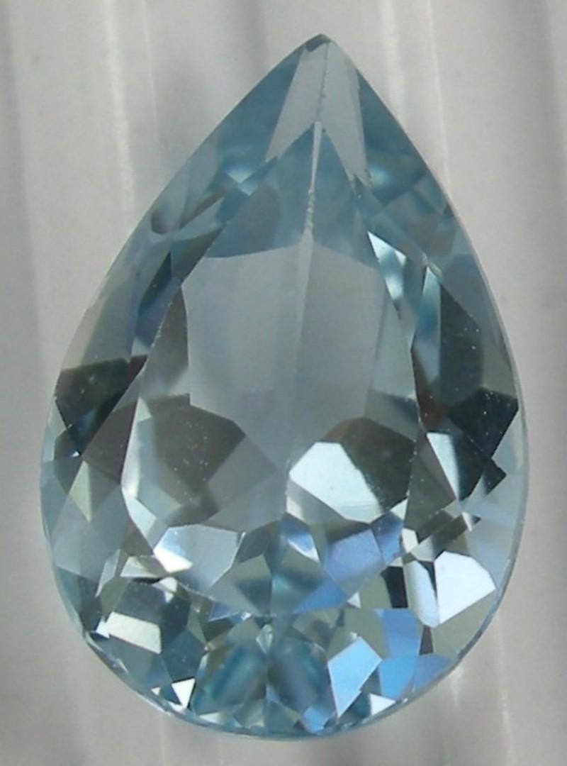 GORGEOUS PENDANT SIZE GEM - 6.35CT BLUE TOPAZ PEAR SHAPED GEMSTONE!!