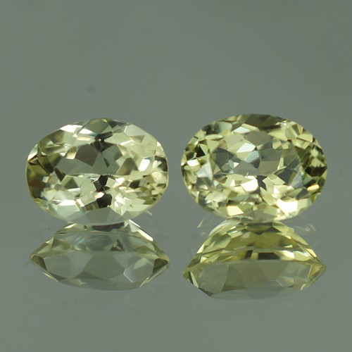 2.61 ct 8X6 MM TOP QUALITY NATURAL SILLIMANITE PAIR - SLP55
