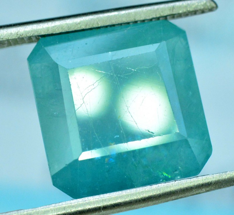certified 6.44 cts octagonal cut rare natural grandidierite gemstone from m