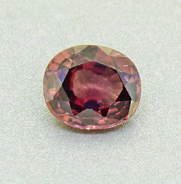 Natural Zircon 2.77 Ct. Unheated Purpleish Brown (01236)