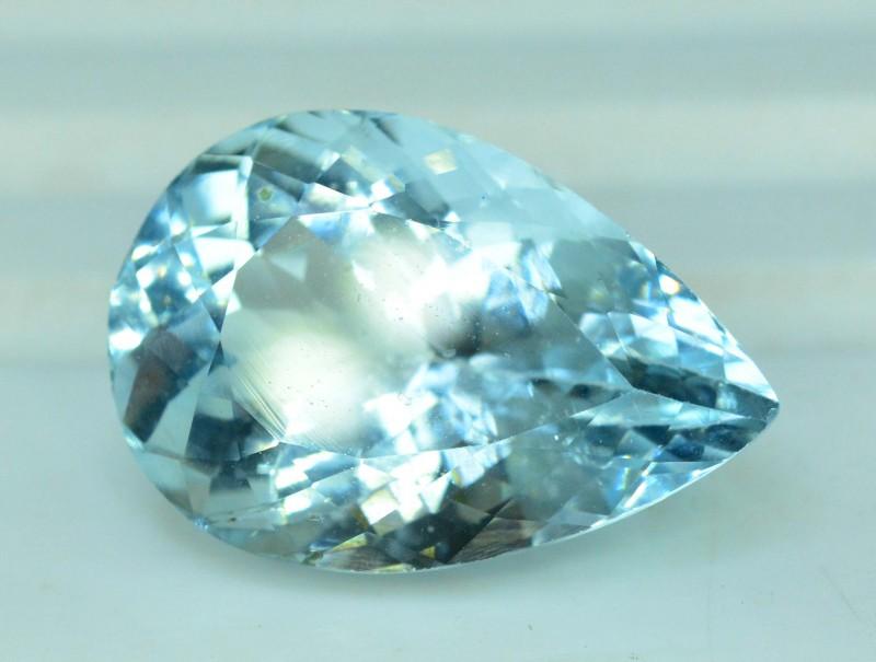 11.15 carats Pear Shape Natural Aquamarine Loose Gemstone from Pakistan