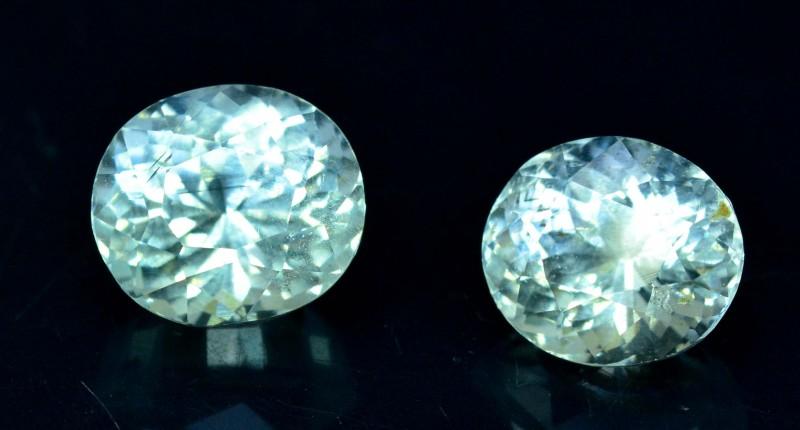 6.80 cts Untreated Aquamarine Gemstones Pair from Pakistan