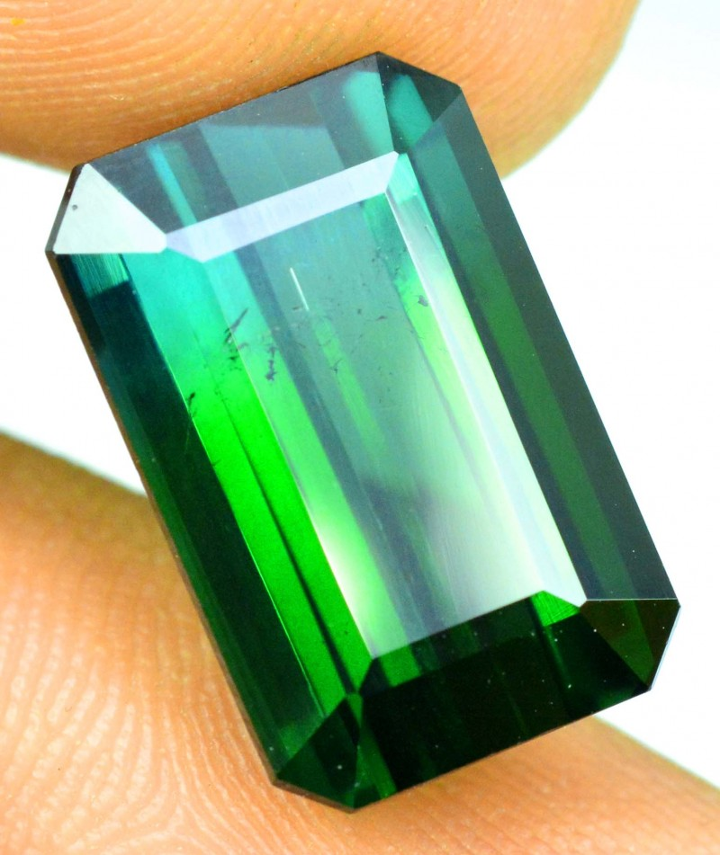 8.40 carats Untreated Natural Blue Green Bi Color Tourmaline Gemstone from