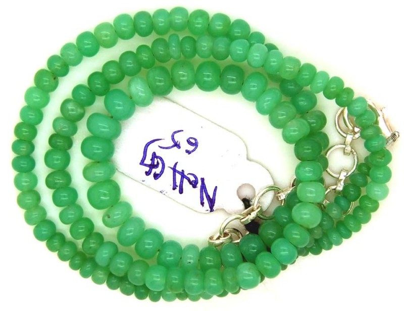 66.00CTS CHRYSOPRASE BEADS STRAND NP-2379