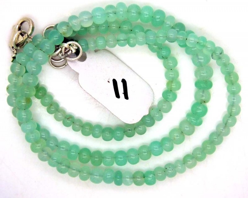 71.65CTS CHRYSOPRASE BEADS STRAND NP-2382