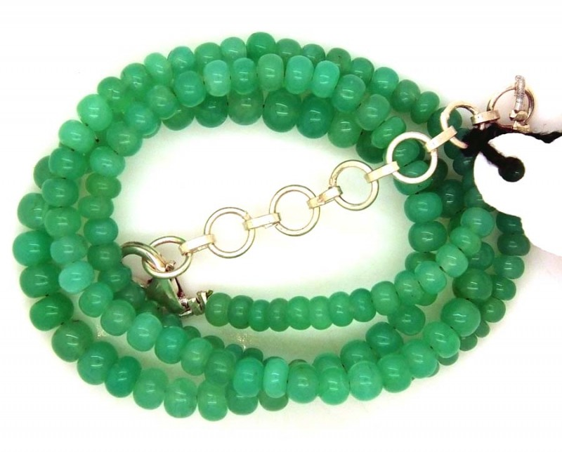 66.80CTS CHRYSOPRASE BEADS STRAND NP-2385