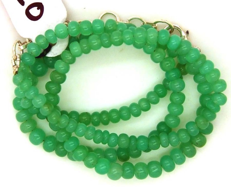 68.85CTS CHRYSOPRASE BEADS STRAND NP-2391