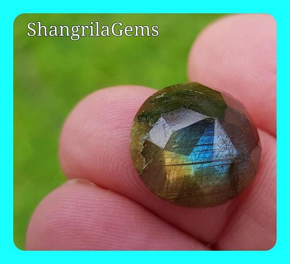 15mm Labradorite ROSE cut gemstone cabochon 15mm by 7mm deep