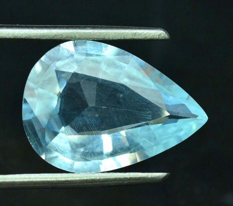 5.15 carats pear Shape Natural Aquamarine Loose Gemstone from Pakistan