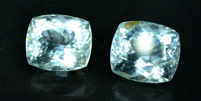 7.90 carats Natural Aquamarine Gemstones Pair from Pakistan