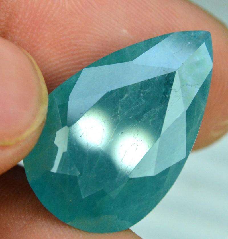 17 01 cts Certified Trillian Curved Cut Rare Grandidierite Gemstone