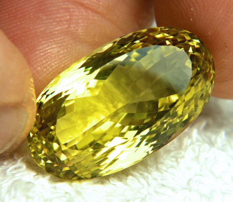 38.94 Carat Natural African VVS Lemon Quartz - Gorgeous
