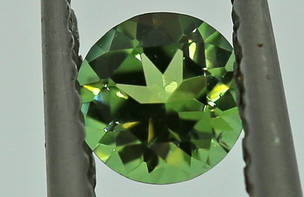 ---CERTIFIED--- 0.31 carats Green Tourmaline - NO treatment  ANGC 761