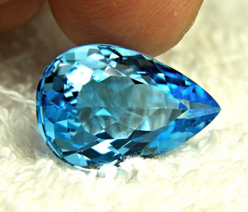 15.11 Carat Blue VVS Brazilian Topaz - Gorgeous