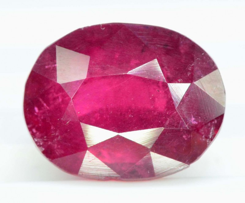 4.15 carats oval cut Untreated Rubelite Gemstone