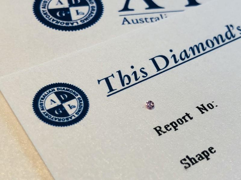 0.017ct 6P I1 Certified Argyle Pink Diamond