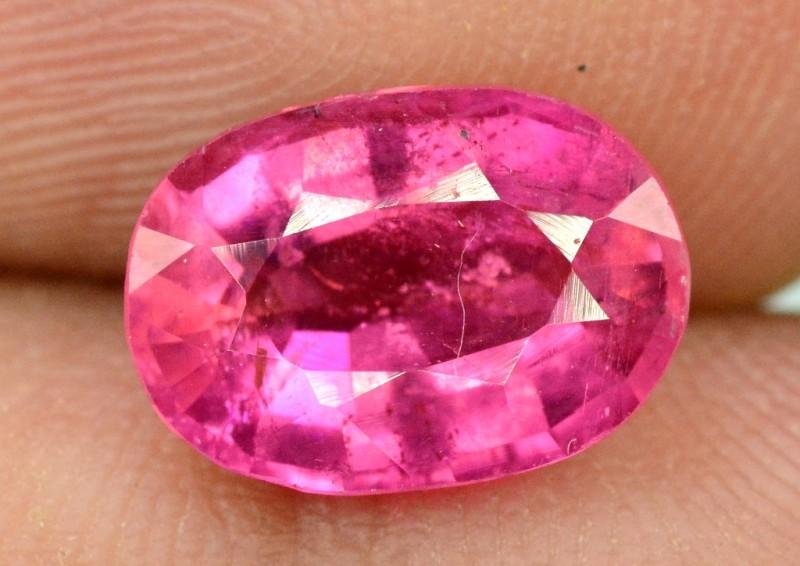2.25 carats oval cut Untreated Rubelite Gemstone