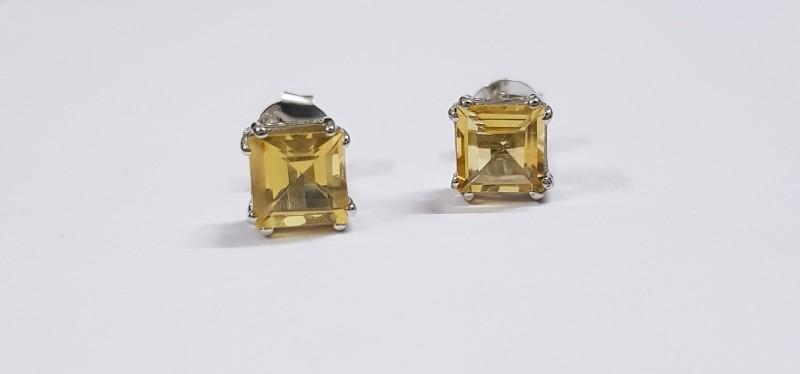 Citrine 925 Sterling silver earring #7705
