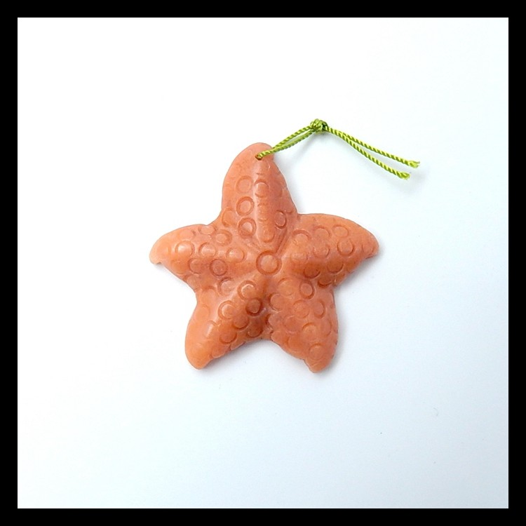 48.5ct Natural Jasper Carved StarFish Pendant (18051616)