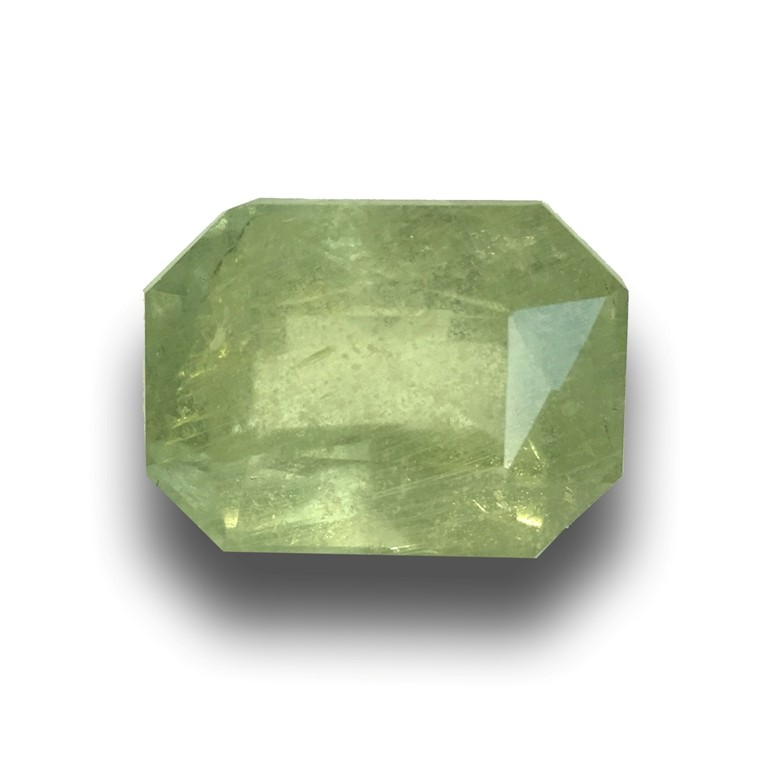 Natural Unheated Yellowish Green Sapphire|Loose Gemstone|Sri Lanka