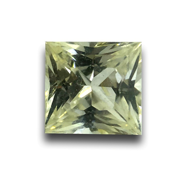 Natural White Sapphire with yellow tinted  |Loose Gemstone|New| Sri Lanka