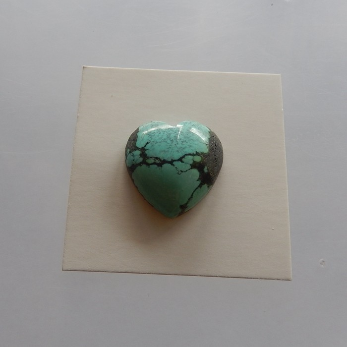 2.4g Heart Shape Natural Gemstone Turquoise Cabochon 18x18x6mm(18052014)