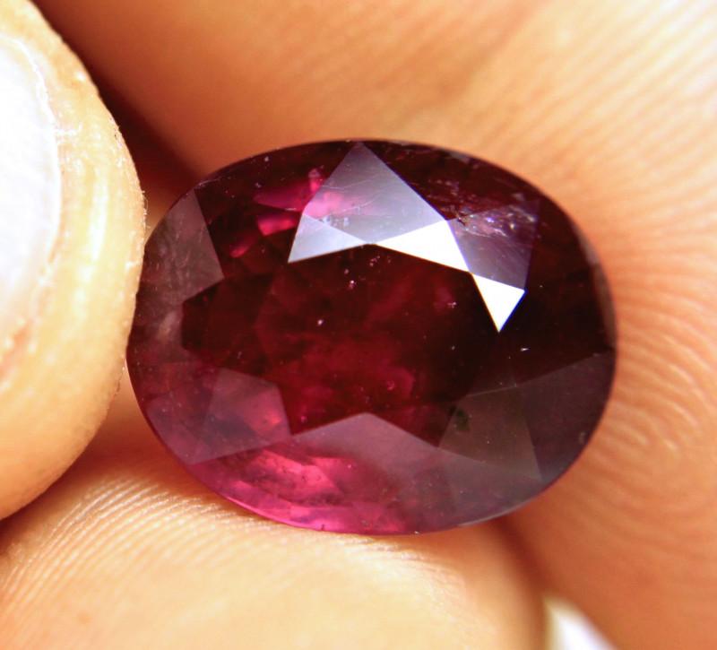 10.51 Carat Purple Red Fiery Ruby - Superb