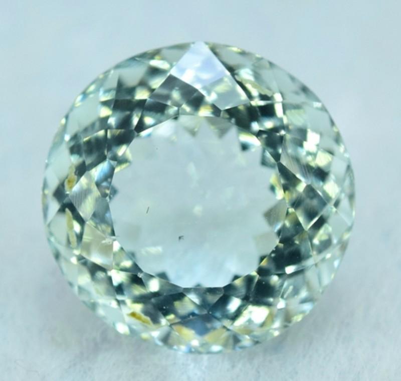 Certified 9.97 cts Round Cut Natural Aquamarine Loose Gemstone (MR)
