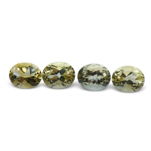 4 Stones - 9.8 ct Citrine 10x8mm Oval - $1 No Reserve Auction
