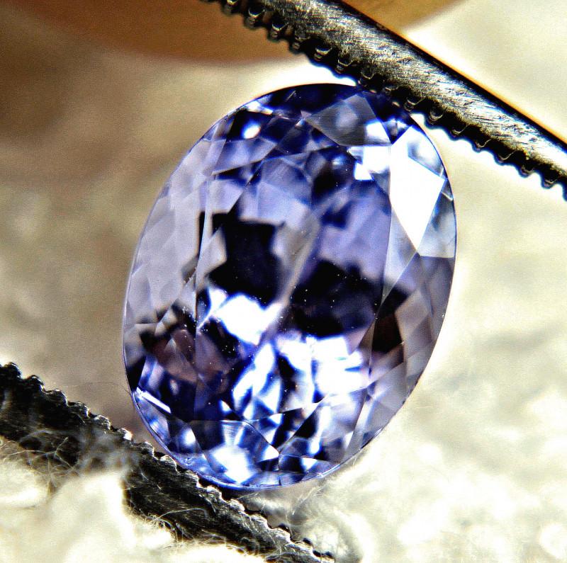 1.94 Carat VVS1 Purple Blue African Tanzanite - Gorgeous