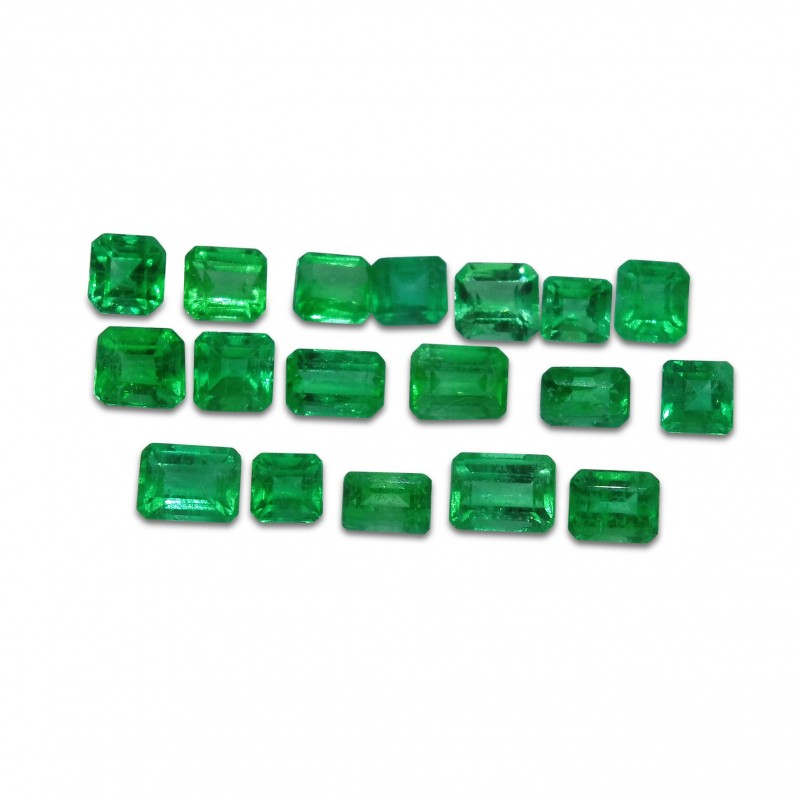 Emerald 4.22 cts 18st Emerald Cut Wholesale Lot