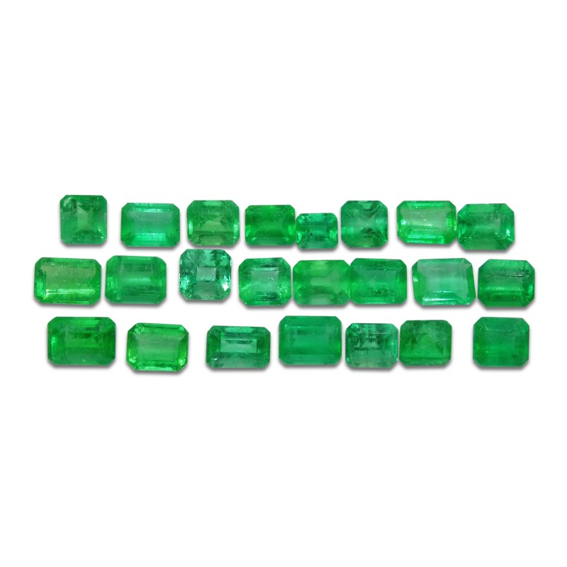 Emerald 10.8 cts 23st Emerald Cut Wholesale Lot