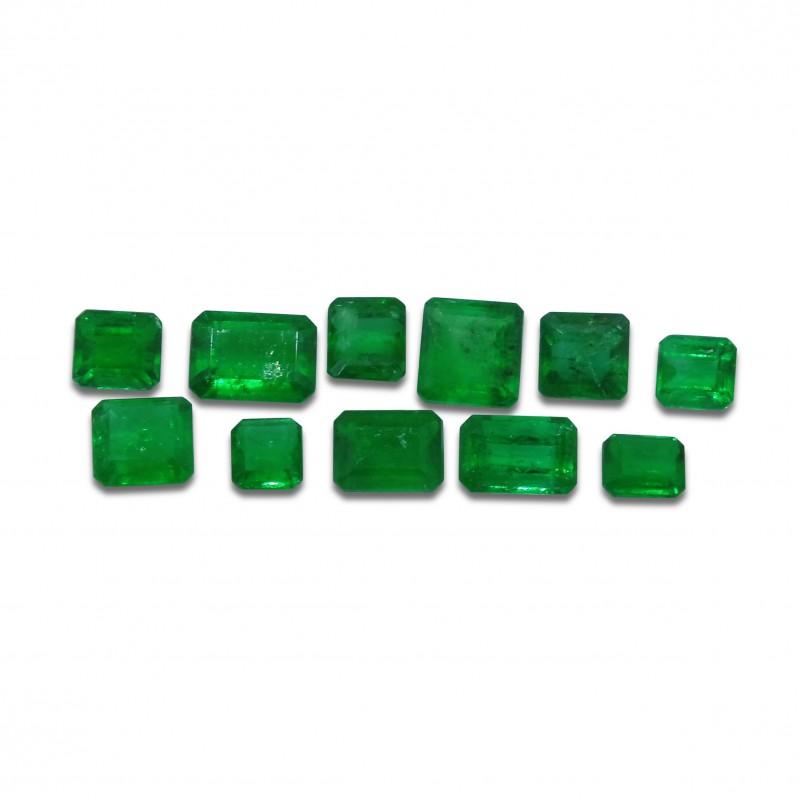 Emerald 4.73 cts 11st Emerald Cut Wholesale Lot