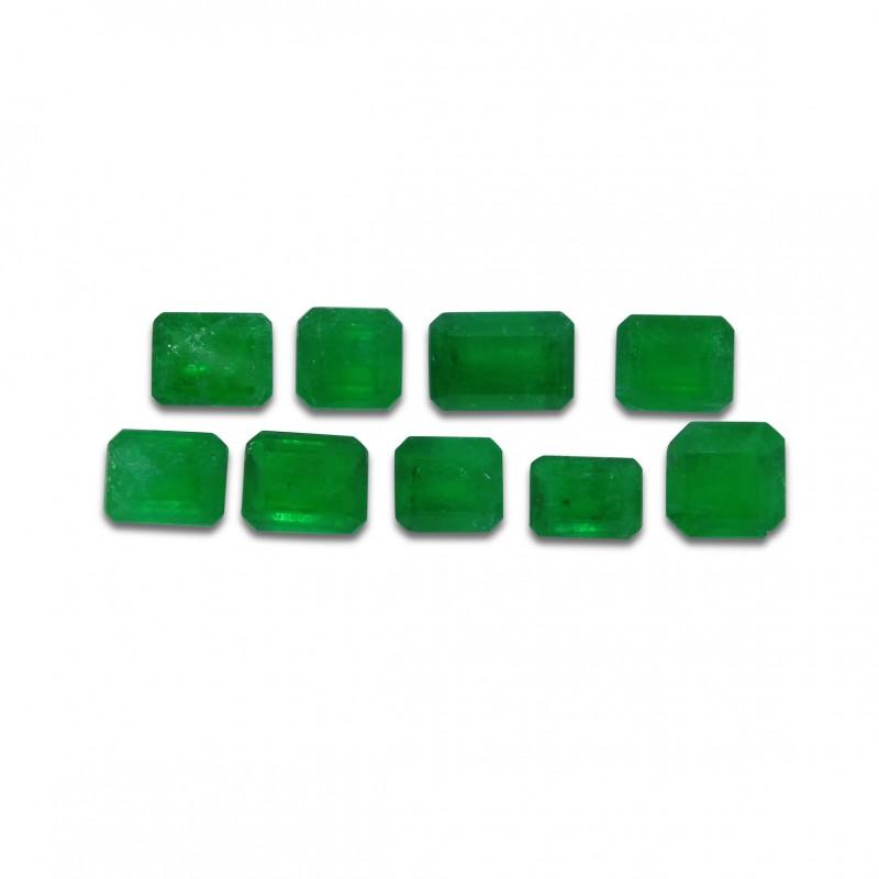 Emerald 4.31 cts 9st Emerald Cut Wholesale Lot