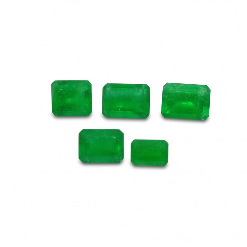 Emerald 2.91 cts 5st Emerald Cut WHOLESALE LOT