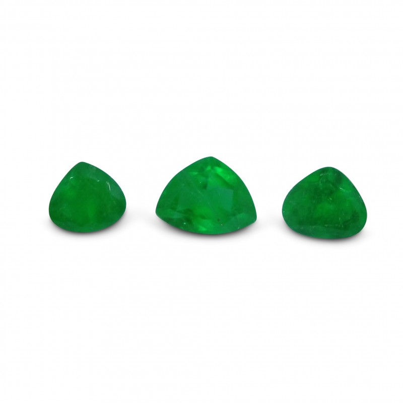 Emerald 1.61 cts 3st Pear  WHOLESALE LOT