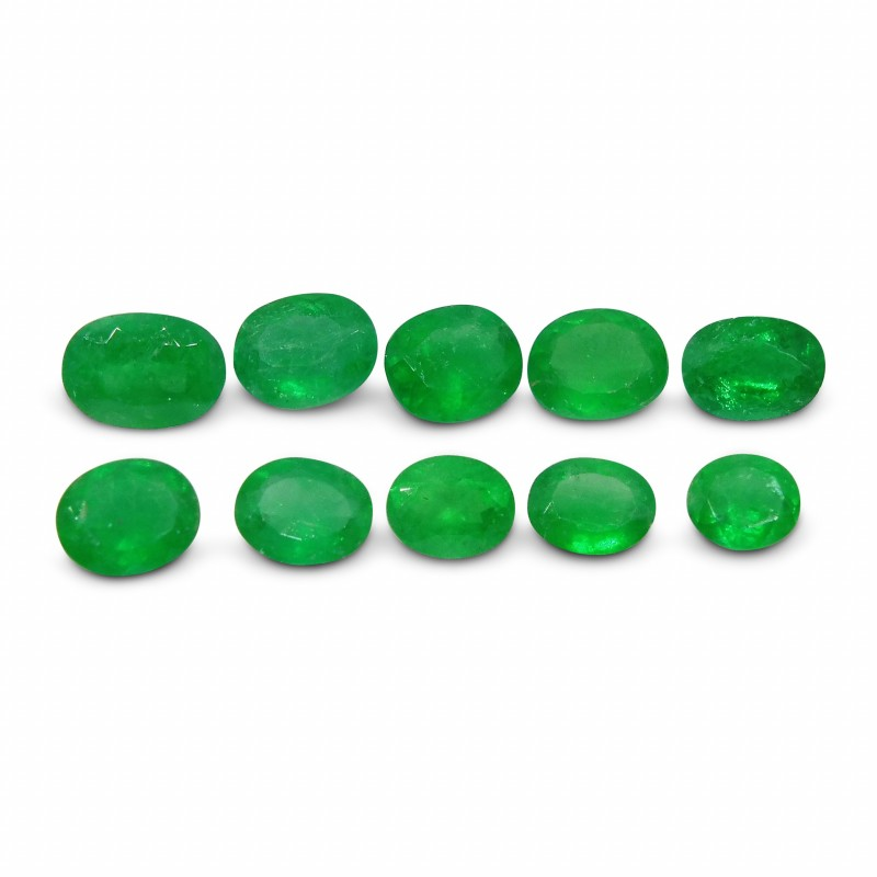 Emerald 4.3 cts 10st Oval WHOLESALE LOT