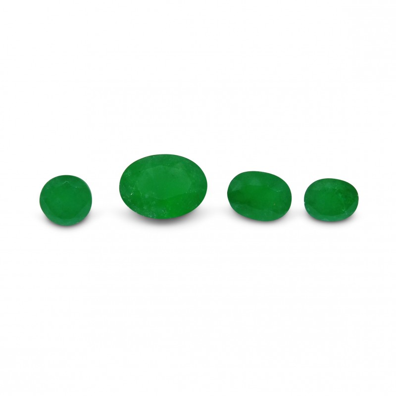 Emerald 2.49 cts 4st Oval/Round WHOLESALE LOT