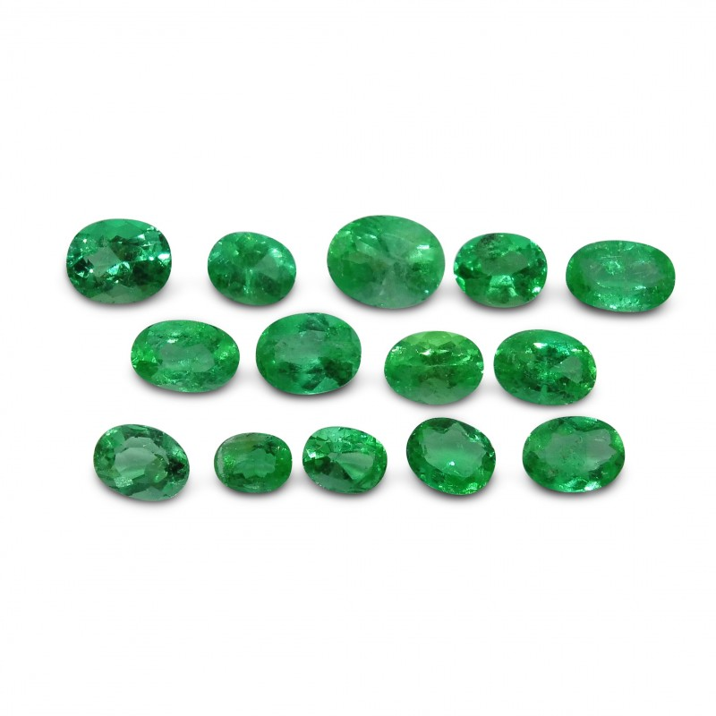 Emerald 5.9 cts 14st Oval WHOLESALE LOT