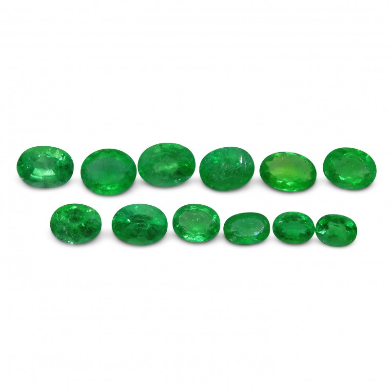 Emerald 6.02 cts 12st Oval WHOLESALE LOT